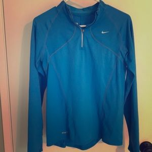 Nike fit dry blue running pullover